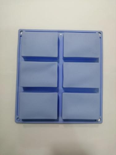 Moldes de silicona para jabones 6 rectangular