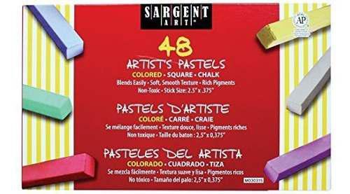 Sargent art 22 4148 color gis pastel cuadrado 48 recuento