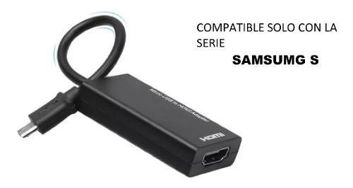 Cable Adaptador Mhl Micro Usb A Hdmi Solo Para Cel Samsug S