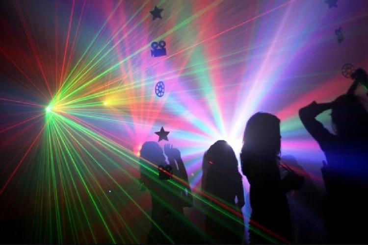 Fiesta dj equipo luces láser, led, neon