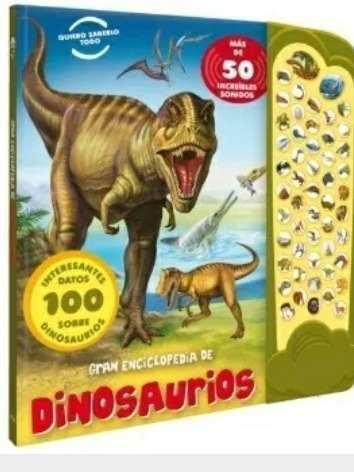 Libro. Gran Enciclopedia De Dinosaurios T. Dura Y Sonido