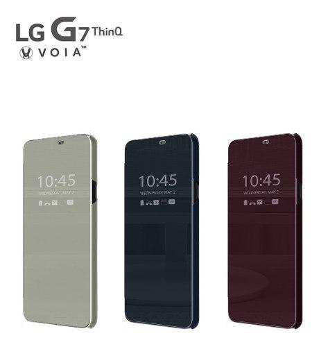 Voia Premium Quick Cover Case @ Lg G7 Funda Flip Con Sensor