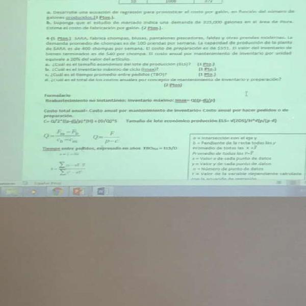 Clases de estadistica, fisica, qumica, matematica