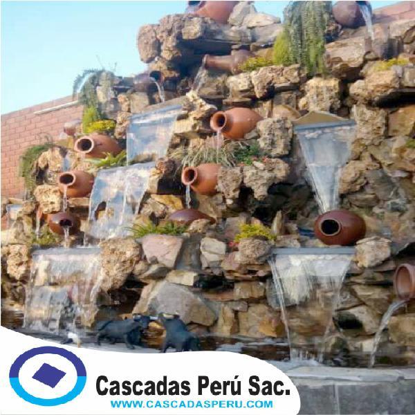 Cascadas artificiales en piedra pomes, cascada artificial en