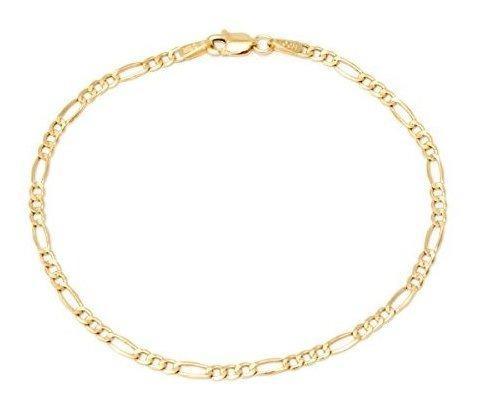 Collar de cadena de eslabones de oro amarillo de 14 quilates
