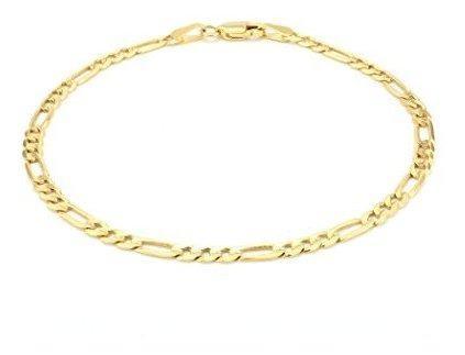 Collar de cadena de oro amarillo de 14 quilates con eslabone