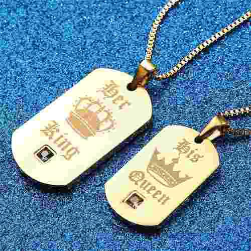 Collares para parejas her king and his queen