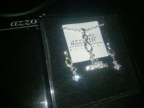 Juego de aretes, collar, anillo azzorti bijoux