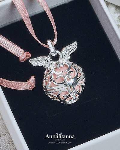 Llamador de ángeles collar dije amuleto plata 925