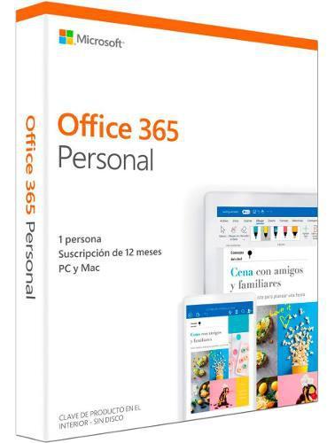 Office 365 personal 2019 español - 1 usuario windows / mac