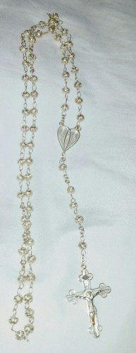 Rosario collar plata 925 en filigrana