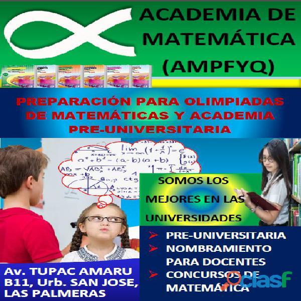 Academia de matemática ampfyq