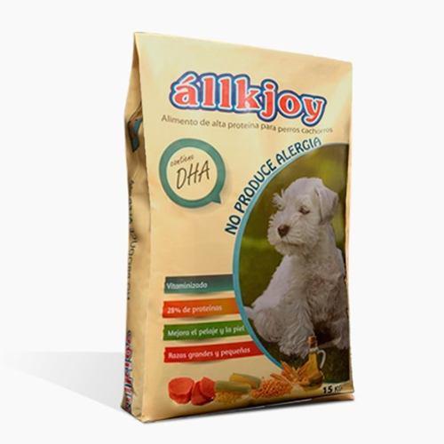 Allkjoy cachorro 15 kg antialergico alimento delivery gratis