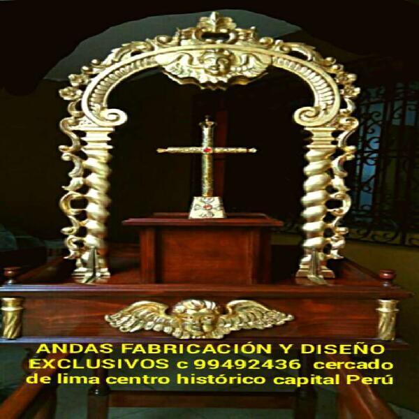 Andas religiosas colonial fabricacion diseño en lima perú