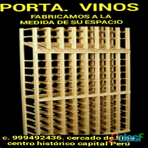 Mueble porta botellas de vinos a la medida de su espacio lima perú
