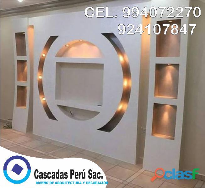 Muebles de tv con luces led, muebles de tv en melamina