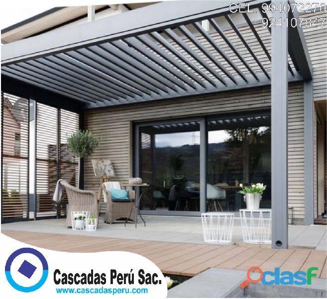 Techos de aluminio, techos de madera, techos sol y sombra modernas
