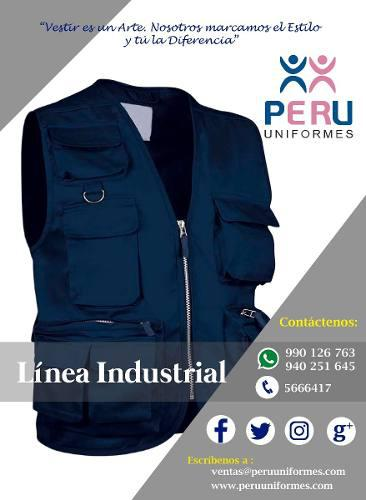 Camisas, polos, chalecos industriales