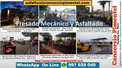 Fresado de pavimento precio por m2 asfaltado y obras viales
