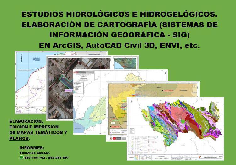 Mapas temáticos / estudios hidrológicos e hidrogeológicos