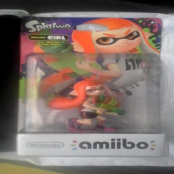 Nintendo amiibo splatoon inkling girl wii u, 3ds y switch