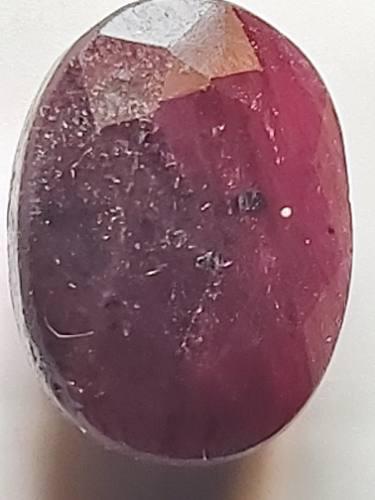 Piedra rubí rojo opaco africano sangre natural 17 ct. n 10a