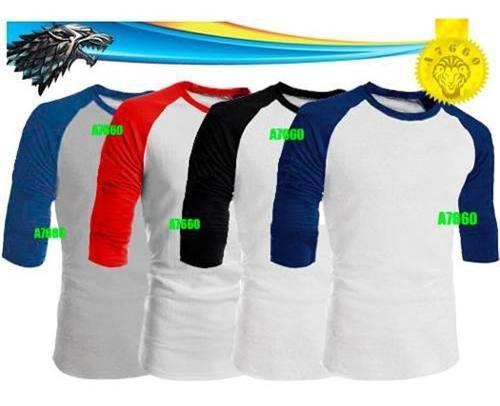 Polos manga 3/4 larga corta basicos camisas beisbol