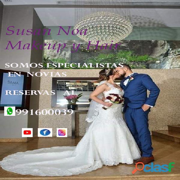 Maquillaje y peinado profesional para novias,adomicilio lima 991600039