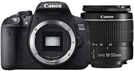 Canon eos 700d t5i 18mp + 18-55mm pantalla tactil