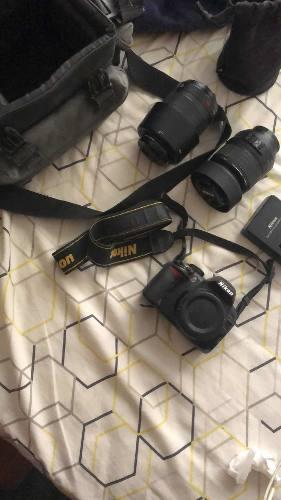 Cámara Nikon D3100 + Dos Lentes (18-55/55-200)