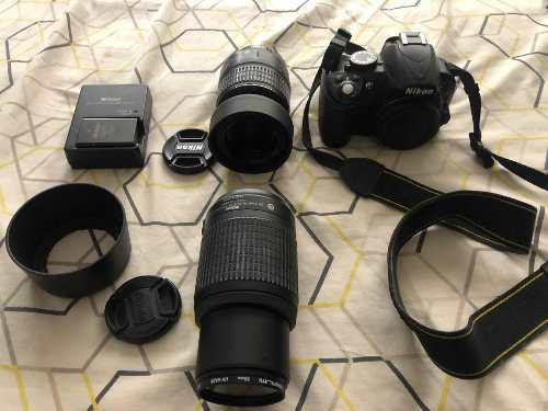 Cámara Nikon D3100 + Lentes Nikon