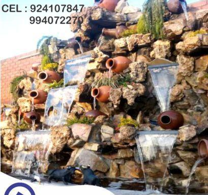Cascada artificial de piedra natural, cascada artificial de