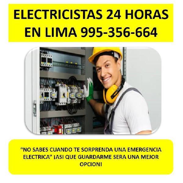 Electricista 24 horas en lima