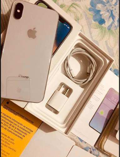 iPhone X 64gb Silver Apple En Caja Como Nuevo