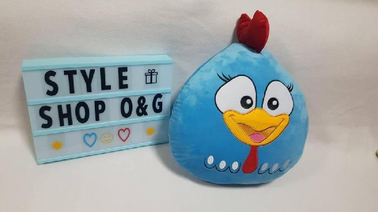 Cojín almohada gallina pintadita bolsa regalo
