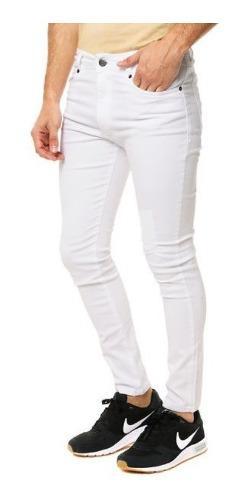 Pantalones jeans pitillo/skinny negro/blanco hombres