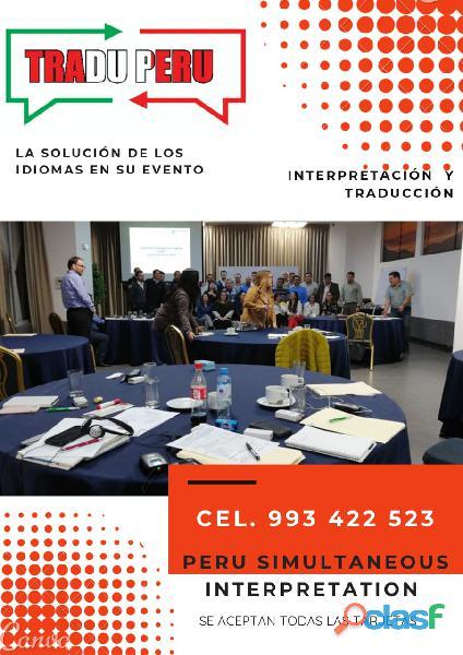 Lima   trujillo equipos de traducción simultánea arequipa cel: 993422523