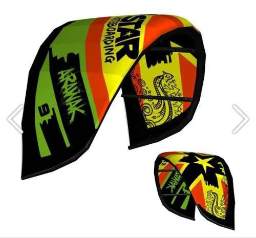 Kite surf equipo completo #9 star kite - arawak