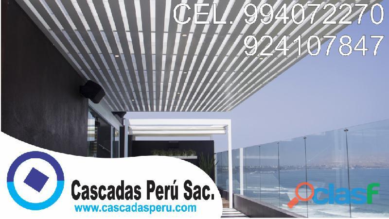 Techos sol y sombra, techos de madera, techos de policarbonatos