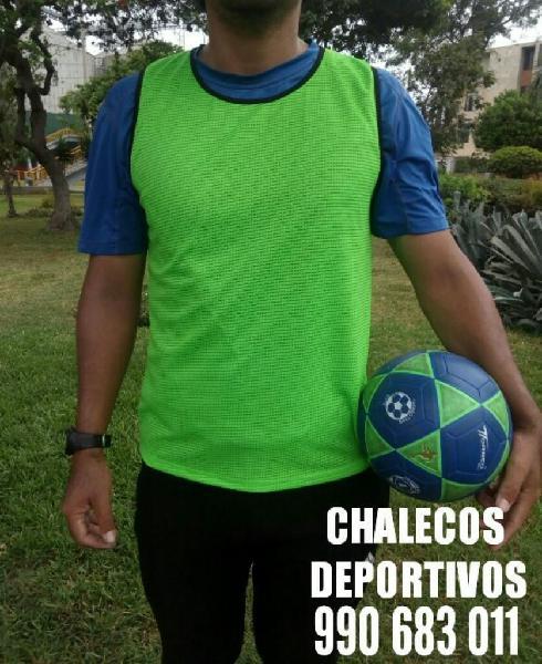 Chalecos entrenamiento deportivo futbol