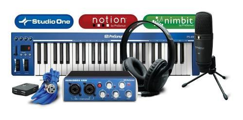 Presonus controlador midi interface microfono audifonos