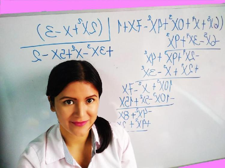 Profesora de matemáticas, tutora, clases a domicilio