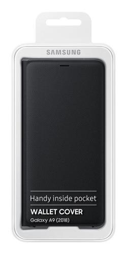 Samsung galaxy a9 2018 flip wallet cover 100% original