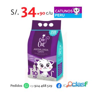 Arena para gato cute cat bolsa x 10 kg.