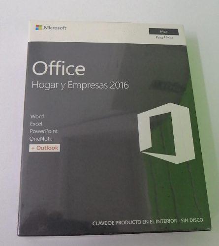Microsoft office hogar y empresas para mac