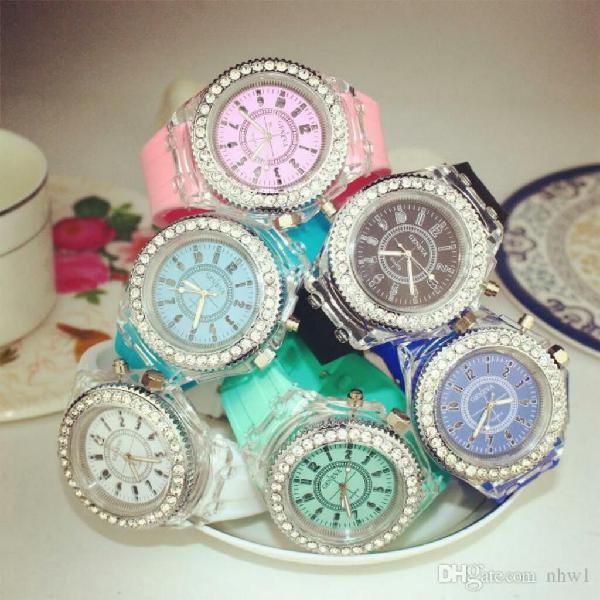 Reloj pulsera con luces leds