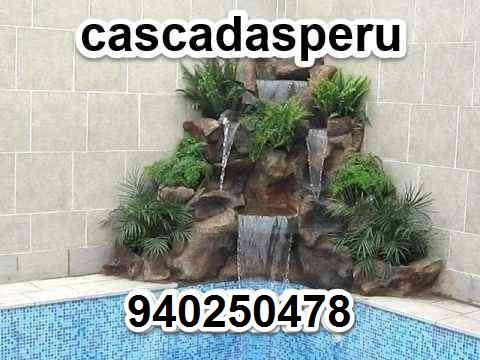 Cascada para piscinas en piedra natural y acero inox. en