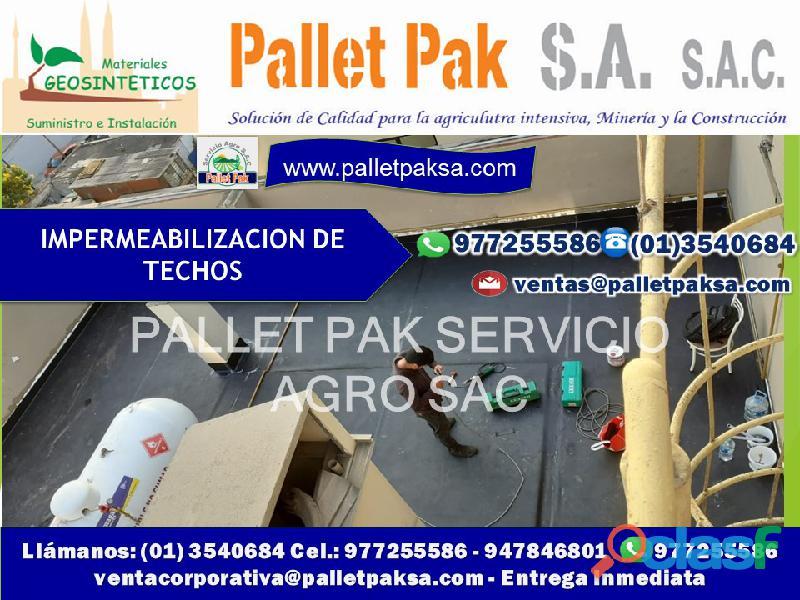 Impermeabilizacion de techos,jardines,azoteas