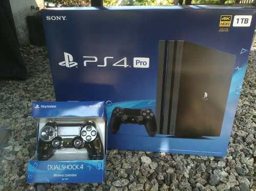 Playstation 4 pro 1tb nuevo y sellado+ 2 mandos+2 juegos