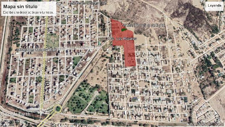 Alquiler de terreno urbano cercado en la urb. los rosales